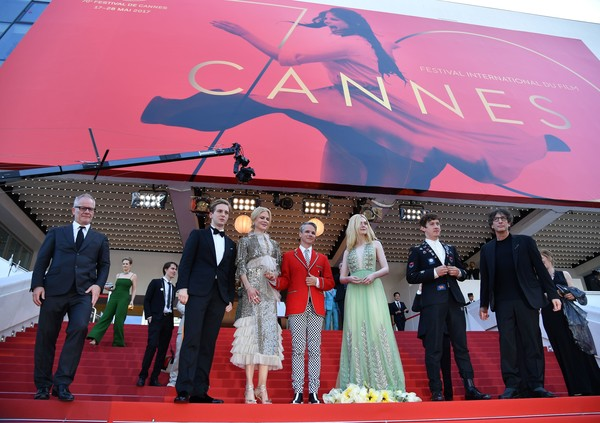 'How to Talk to Girls at Parties' Red Carpet Arrivals - The 70th Annual Cannes Film Festival [how to talk to girls at parties,red carpet,carpet,red,event,premiere,flooring,ceremony,red carpet arrivals,nicole kidman,elle fanning,john cameron mitchell,abraham lewis,alex sharp,neil gaiman,british,cannes film festival]