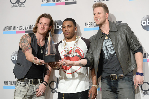Press Room at the American Music Awards  [single of the year,event,nelly,singers,winners,tyler hubbard,american music awards,c,room,l,florida georgia line]