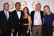 (L-R) NYCIFF Founder Roberto Rizzo, Nesim Hason, Temi Hason, filmmaker Kevin Gay and actress Bonnie Piesse attend The New York City International Film Festival at Angelika Film Center on August 16, 2012 in New York City.