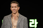 Ryan Reynolds attends the press conference for the world premiere of Netflix's '6 Underground' at Four Seasons Hotel on December 02, 2019 in Seoul, South Korea.