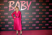 """Isabella Ferrari attends the Netflix's """"Baby"""" World Premiere Afterparty at Villa Sublime on November 27, 2018 in Rome, Italy."""
