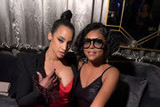 Dascha Polanco and Taraji P. Henson attend the 2019 Netflix Primetime Emmy Awards After Party at Milk Studios on September 22, 2019 in Los Angeles, California.