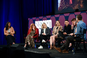 "Natasha Lyonne, Amy Poehler, Leslye Headland, Charlie Barnett, Todd Downing, Brienne Rose and Chris Teague attend Netflix's FYSEE event for ""Russian Doll"" at Netflix FYSEE At Raleigh Studios on June 09, 2019 in Los Angeles, California."