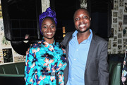 """Aissa Maiga (L) and William Kamkwamba attend the Netflix film """"The Boy Who Harnessed The Wind"""" Sundance Film Festival Park City screening reception at Handle on January 26, 2019 in Park City, Utah."""