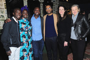 "(L-R)  Maxwell Simba, Aissa Maiga, William Kamkwamba, Chiwetel Ejiofor, Andrea Calderwood, and Gail Egan attend the Netflix film ""The Boy Who Harnessed The Wind"" Sundance Film Festival Park City screening reception at Handle on January 26, 2019 in Park City, Utah."