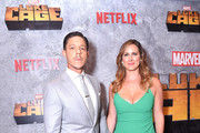 Theo Rossi and Meghan Rossi attend the Netflix Original Series Marvel's Luke Cage Season 2 New York City Premiere on June 21, 2018 in New York City.