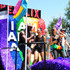 """Miguel Angel Silvestre Photos - (L-R) Toby Onwumere, Freema Agyeman, Jamie Clayton, Tina Desai, and Miguel Angel Silvestre are seen on the Netflix original series """"Sense8"""" float at the Los Angeles Pride Parade on June 10, 2018 in West Hollywood, California. - Netflix Original Series 'Sense8' Cast Attends Los Angeles Pride Parade"""