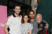 (L-R) David Corenswet, Zoey Deutch, Ben Platt and Ryan Murphy attend Netflix's 'The Politician' - LA Tastemaker at San Vicente Bungalows on July 23, 2019 in West Hollywood, California.
