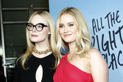 """Elle Fanning and Virginia Gardner attends the Netflix Premiere of """"All the Bright Places"""" on February 24, 2020 in Hollywood, California."""