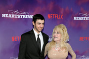"""Lucas Townsend Parton and Dolly Parton attend the Netflix Premiere of Dolly Parton's """"Heartstrings"""" on October 29, 2019 in Pigeon Forge, Tennessee."""