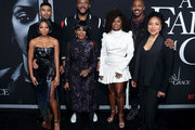 """Bresha Webb, Matthew Law, Tyler Perry, Cicely Tyson, Crystal Fox, Mehcad Brooks, and Phylicia Rashad attend the Netflix Premiere for Tyler Perry's """"A Fall From Grace"""" at Metrograph on January 13, 2020 in New York City."""