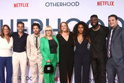 (L-R) Cathy Schulman, Frank De Julio, Jake Hoffman, Patricia Arquette, Cindy Chupack, Angela Bassett, Sinqua Walls and Jason Michael Berman attend the Netflix Premiere of OTHERHOOD at the Egyptian Theater on July 31, 2019 in Los Angeles, California.