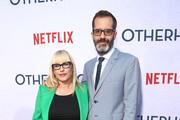 Patricia Arquette and Eric White attend the Netflix Premiere of OTHERHOOD at the Egyptian Theater on July 31, 2019 in Los Angeles, California.