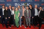 """(L-R) Blair Fetter, Cindy.Holland, Noel Bright, Aaron Paul, Lisa Hanawalt, Raphael Bob-Waksberg, Mike Hollingsworth, Paul F. Tompkins, Will Arnett, Steve Cohen, and Andy Weil attend """"The BoJack Horseman"""" Finale Event, presented by Netflix, at The Egyptian Theatre on January 30, 2020 in Los Angeles, California."""