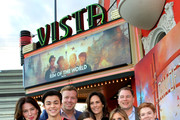 Lynn Collins, Alessio Scalzotto,  McG, Miya Cech, Annabeth Gish , Mary Viola, Zach Stentz and Jack Gore attends a special screening of Netflix's 'The Rim Of The World' at the Vista Theatre  on May 20, 2019 in Los Angeles, California.