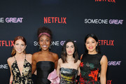 """(L-R) Brittany Snow, DeWanda Wise, Writer and Director Jennifer Kaytin Robinson and Gina Rodriguez attend Netflix Special Screening Of """"Someone Great"""" at ArcLight Cinemas on April 17, 2019 in Culver City, California."""