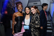 """(L-R) DeWanda Wise, Gina Rodriguez and Brittany Snow attend Netflix Special Screening Of """"Someone Great"""" at ArcLight Cinemas on April 17, 2019 in Culver City, California."""