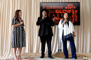 Rev Run (center) and Justine Simmons (right) speak onstage during Netflix TCA 2018 at The Beverly Hilton Hotel on July 29, 2018 in Beverly Hills, California.
