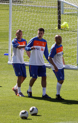 Johnny Heitinga Netherlands Training Session-2010 FIFA World Cup