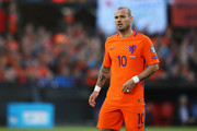 Wesley Sneijder of the Netherlands in action during the FIFA 2018 World Cup Qualifier between the Netherlands and Luxembourg held at De Kuip or Stadion Feijenoord on June 9, 2017 in Rotterdam, Netherlands.