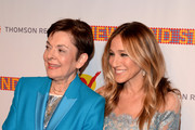 Cora Cahan and Sarah Jessica Parker attend The New 42nd Street 25th Anniversary Gala at New 42 Street Studios on April 11, 2016 in New York City.