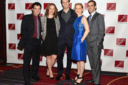 (L-R) Jarrod Spector, Jessie Mueller, Jake Epstein, Anika Larsen and Marc Bruni of 'Beautiful: The Carole King Musical' attend New Dramatists 65th Annual Spring luncheon at The New York Marriott Marquis on May 22, 2014 in New York City.