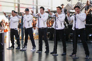 New Kids on the Block (L-R) Danny Wood, Donnie Wahlberg, Jordan Knight, Joey McIntyre and Jonathan Knight perform on'The Today Show' on May 31, 2013 in New York, New York.