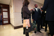 Rep.-elect Allen West (R-FL) holds a military helmet bag as he speaks to the media prior to a new member orientation November 15, 2010 on Capitol Hill in Washington, DC. New members of the House of Representatives have arrived to the Capitol for the five-day orientation which held by the House Administration Committee.