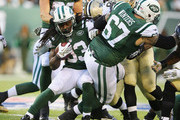 Chris Ivory #33 of the New York Jets runs against the New Orleans Saints during their game at MetLife Stadium on November 3, 2013 in East Rutherford, New Jersey.
