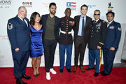 (L-R) Israel Del Toro, Jen Oh, Hasan Minhaj, Kionte Storey, John Mulaney, Ivan Castro, and Deondra Parks attend the 11th Annual Stand Up for Heroes Event  presented by The New York Comedy Festival and The Bob Woodruff Foundation at The Theater at Madison Square Garden on November 7, 2017 in New York City.
