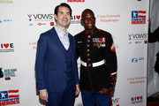 Jimmy Carr and Kionte Storey attend The New York Comedy Festival and The Bob Woodruff Foundation present the 12th Annual Stand Up For Heroes event at The Hulu Theater at Madison Square Garden on November 5, 2018 in New York City.