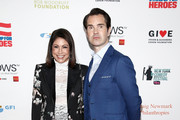 Caroline Hirsch and Jimmy Carr attend The New York Comedy Festival and The Bob Woodruff Foundation present the 12th Annual Stand Up For Heroes event at The Hulu Theater at Madison Square Garden on November 5, 2018 in New York City.