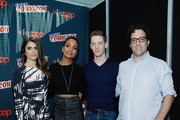 (L-R) Nikki Reed, Lyndie Greenwood, Zach Appelman and Writer Raven Metzner of the television series Sleepy Hollow attends New York Comic-Con 2015 day 4 at the Jacob K. Javits Convention Center on October 11, 2015 in New York City.