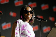 Estelle performs on stage during Steven Universe presentation at New York Comic Con 2019 - Day 2 at Jacobs Javits Center on October 04, 2019 in New York City.