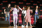 Rebecca Sugar, Estelle, Michaela Dietz, Sarah Stiles, and Deedee Magno speaks onstage during the Steven Universe presentation at New York Comic Con 2019 - Day 2 at Jacobs Javits Center on October 04, 2019 in New York City.