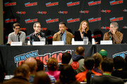 Mark Bianculli, Peter Traugott, Russell Hornsby, Arielle Kebbel, and Michael Imperioli speak onstage during the Lincoln Rhyme: Hunt for the Bone Collector panel at New York Comic Con 2019 Day 3 at Jacob K. Javon October 05, 2019 in New York City.