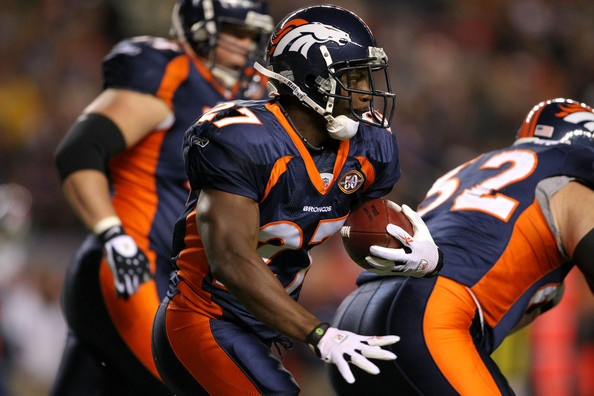 Running back Knowshon Moreno #27 of the <a class='sbn-auto-link' href=