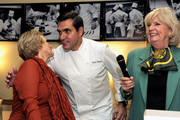 (L-R) Founder and CEO of The French Culinary Institute Dorothy Hamilton, Chef Todd English and New York magazine Culinary Editor Gillian Duffy interact during the New York Culinary Experience hosted by New York magazine and The French Culinary Institute at The French Culinary Institute on October 3, 2010 in New York City.