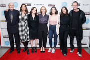 """(L-R) Actors Stan Carp, Lola Kirke, Oona Laurence, Amy Ryan, Molly Brown, Miriam Shor and Dean Winters attend the """"Lost Girls"""" New York premiere during The Athena Film Festival at The Diana Center at Barnard College on February 29, 2020 in New York City."""