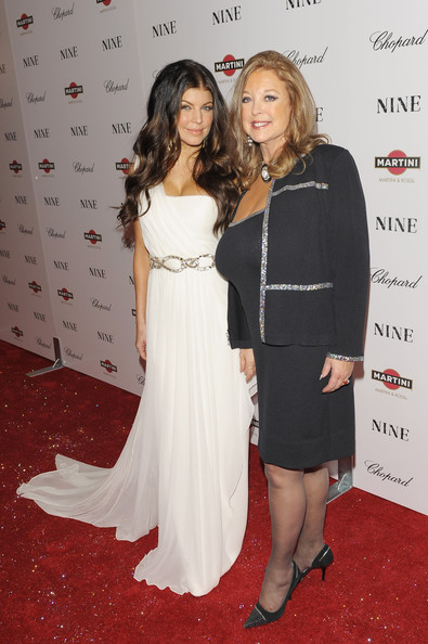 Singer Fergie (L) and her mother Terri Jackson attend the New York premiere of