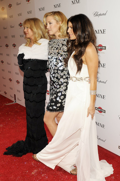 Actresses Goldie Hawn, Kate Hudson and Fergie attend the New York premiere of