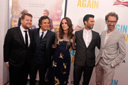 (L-R) James Corden, Keira Knightley, Mark Ruffalo, Adam Levine and John Carney attend the New York premiere of the Weinstein company's BEGIN AGAIN, sponsored by Delta Airlines and Budweiser at SVA Theater on June 25, 2014 in New York City.