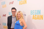 Brian Gallagher (L) and actress Megan Hilty attend the New York premiere of the Weinstein company's BEGIN AGAIN, sponsored by Delta Airlines and Budweiser at SVA Theater on June 25, 2014 in New York City.