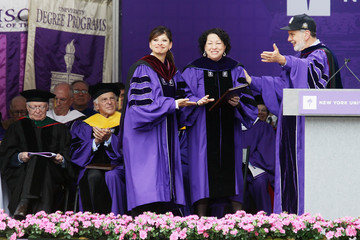 John Sexton New York University Holds Commencement Ceremony At Yankee Stadium
