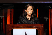 Lifetime Networks CEO Andrea Wong accepts a Muse Award at the New York Women in Film & Television 29th Annual Muse Awards at the Hilton Hotel on December 9, 2009 in New York City.