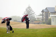 Scott Johnson (R) of North Harbour and Ben Wallace of Auckland walk down the 8th fairway during the New Zealand Men's Interprovincial Semi-Final at Paraparaumu Beach Golf Club on December 11, 2010 in Paraparaumu, New Zealand.