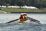 Odette Sceats, Jaime Nielsen, Paula Twining and Harriet Austin of Waikato compete in the final of the Premier Womens Coxless Fours during the New Zealand National Rowing Championships at Lake Karapiro on February 20, 2010 in Cambridge, New Zealand.
