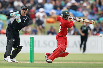 Tatenda Taibu New Zealand v Zimbabwe - 2nd One Day International
