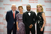 (L-R) Steven J. Corwin, MD, TV personality Stephanie Ruhle,  Leslie Odom, Jr. and Laura Forese, MD attend NewYork-Presbyterian Hospital's Amazing Kids, Amazing Care Dinner at Cipriani 25 Broadway on October 25, 2018 in New York City.