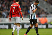 NEWCASTLE UPON TYNE ENGLAND, JANUARY 4: Hatem Ben Arfa  of Newcastle and Peter Whittingham of Cardiff City during the Budweiser FA Cup Third Round match between Newcastle United and Cardiff City at St James Park on January 4, 2014 in Newcastle Upon Tyne, England.